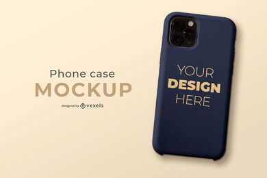 Simple phone case mockup