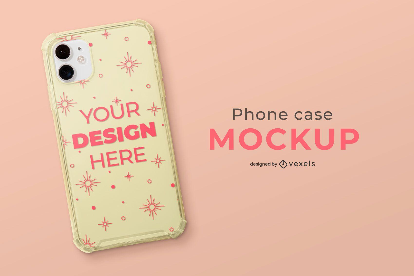 Simple phone case mockup design