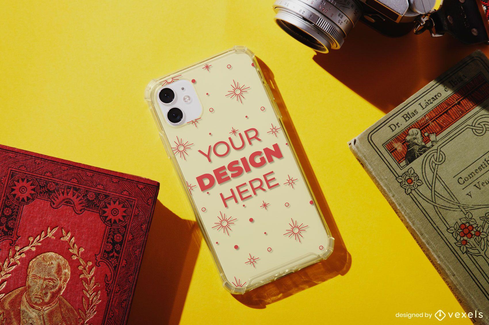 Phone case vintage mockup