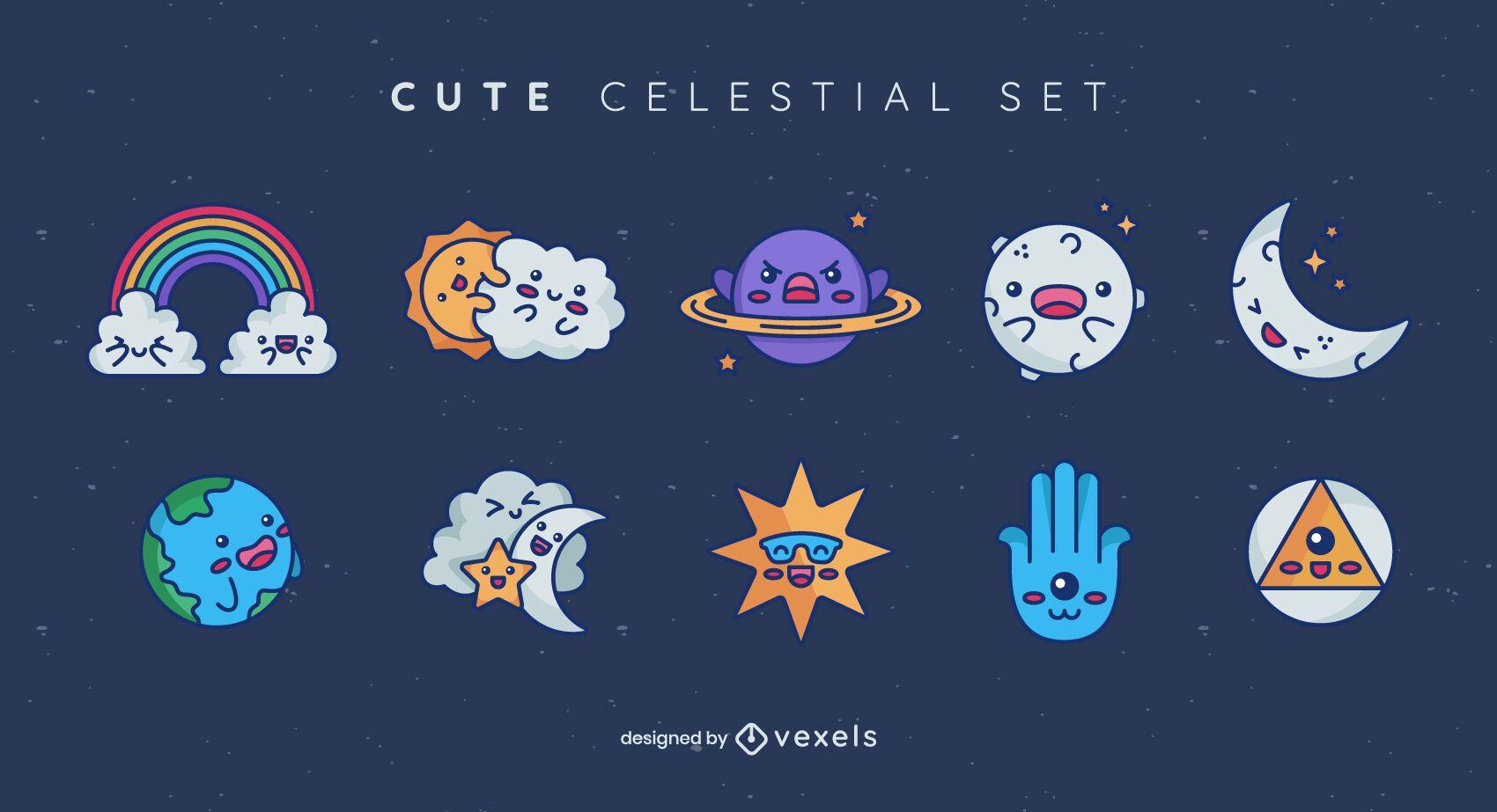 Cute celestial set design