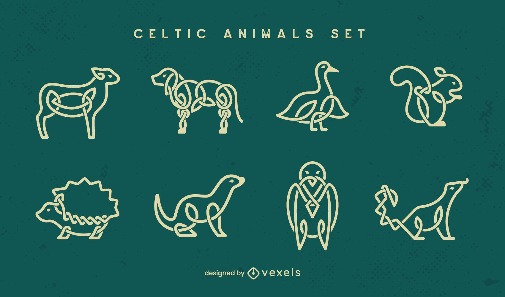 Celtic animal stroke set