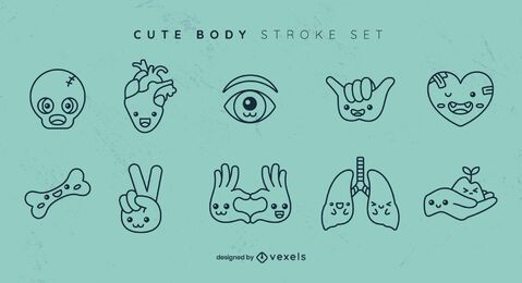 Cute body stroke set