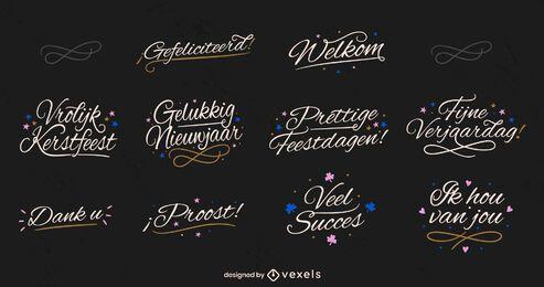 Dutch lettering set