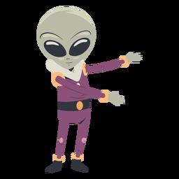 Carácter extendido de brazos alienígenas