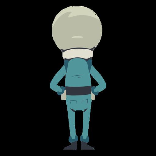 Carácter de espalda alienígena
