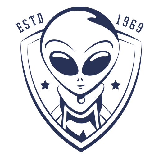 Alien established 1969 badge