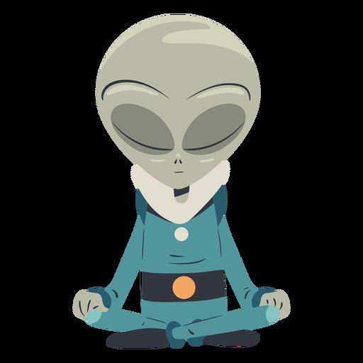 Alien meditating character