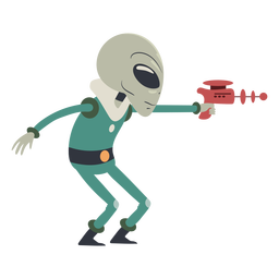 Carácter de pistola de tiro alienígena