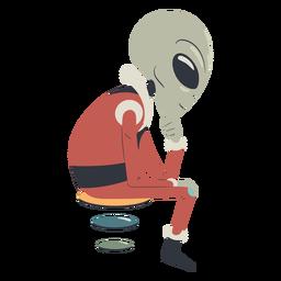 Extranjero sentado personaje