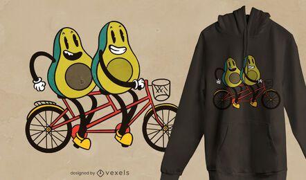 Design de camiseta de bicicleta abacate