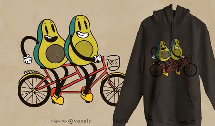 Diseño de camiseta de bicicleta de aguacate.