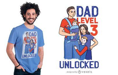 Design de camiseta para papai nível 3