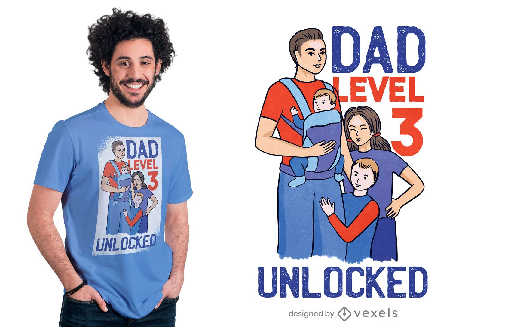 Dad level 3 t-shirt design