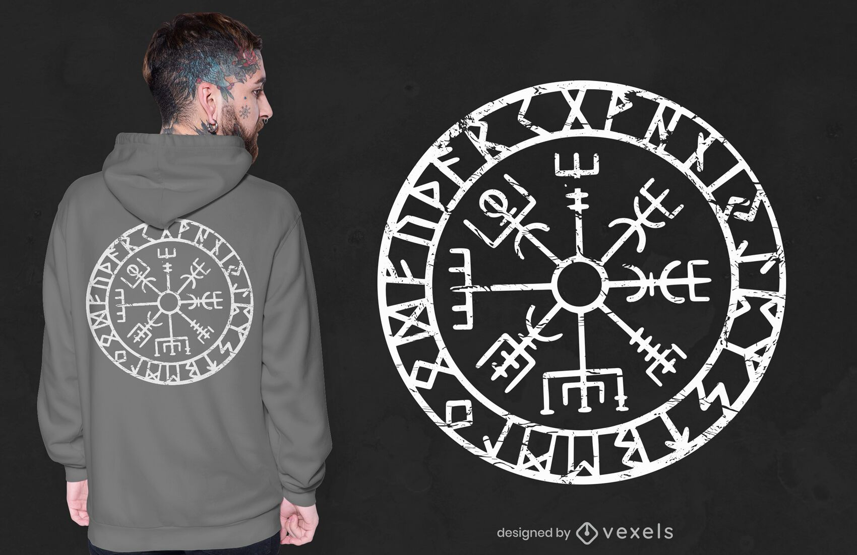 Vegvisir compass t-shirt design