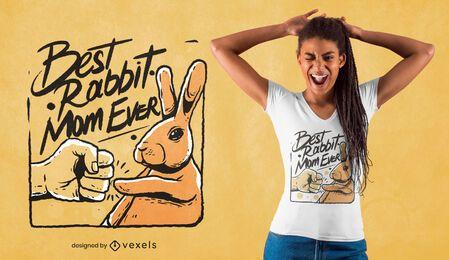 Melhor design de t-shirt para mãe de coelho