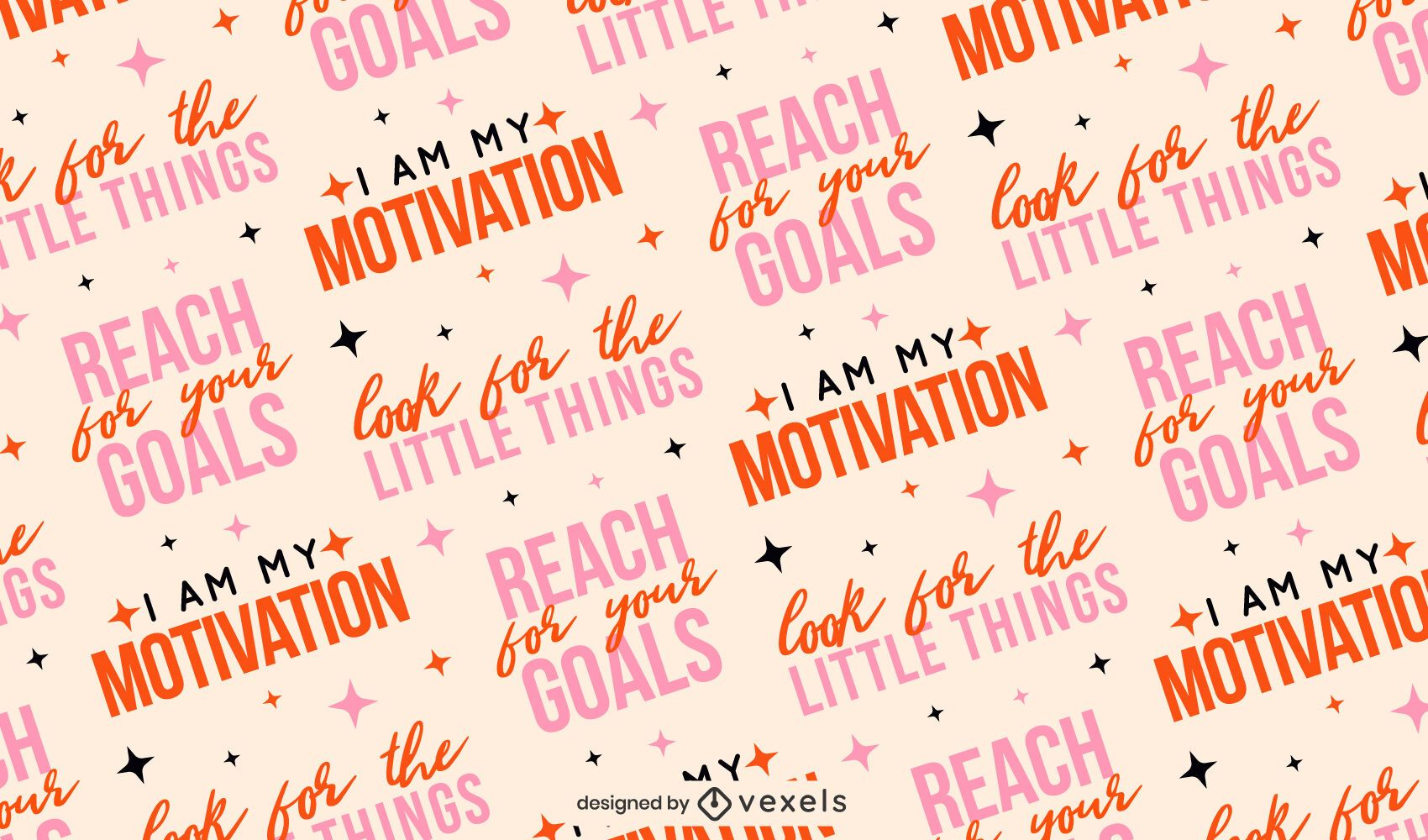 Motivational quotes pattern design