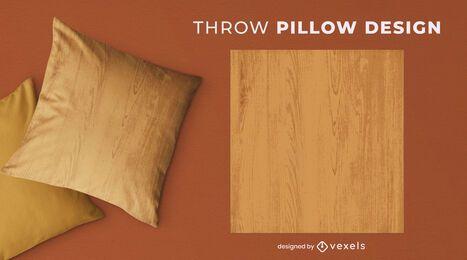 Diseño de almohada de tiro de grano de madera