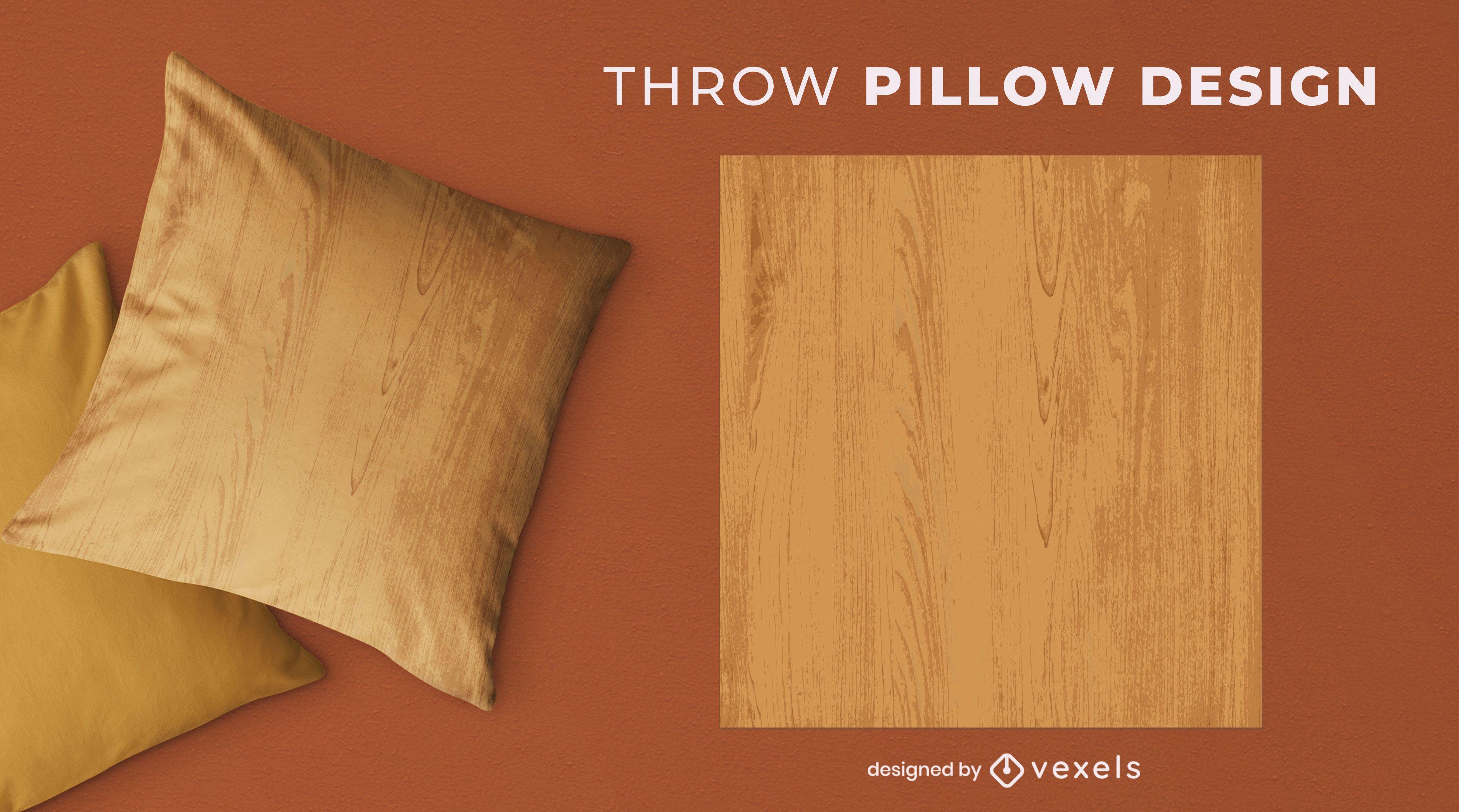 Wood grain throw pillow design