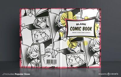 Design de capa de quadrinhos