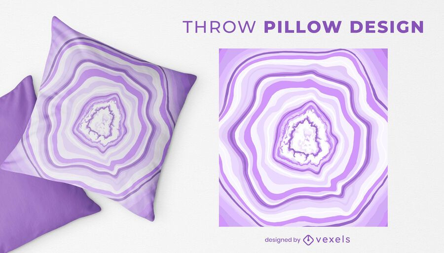 Geode slice throw pillow design