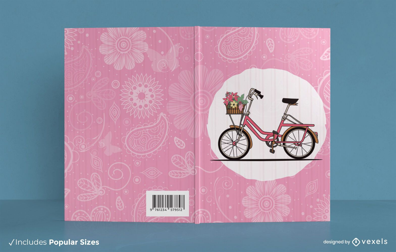 Design de capa de livro de bicicleta fofa