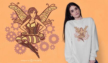 Steampunk fairy t-shirt design