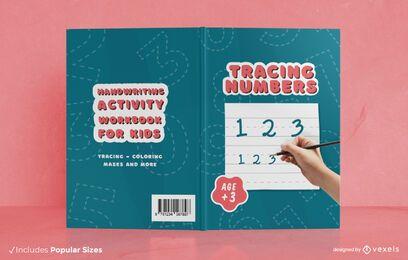 Design da capa do livro de atividades de escrita à mão