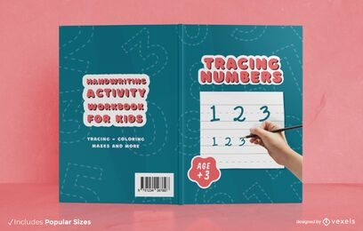 Handwriting activity book cover design