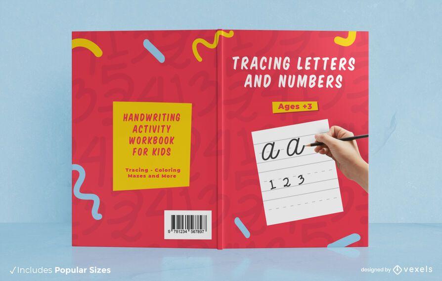 Diseño de portada de libro de letras de rastreo