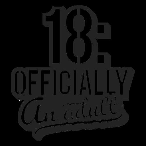18 adorno de torta oficialmente para adultos