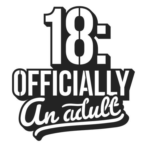 18 officially adult cake topper