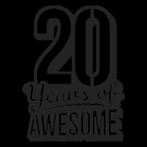 20 anos de bolo incrível