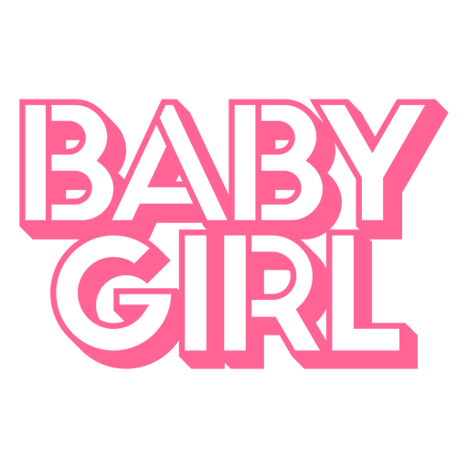 Baby girl cake topper Transparent PNG