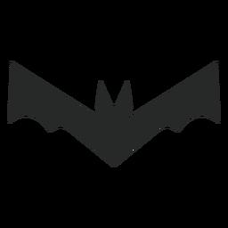 Bat halloween element flat