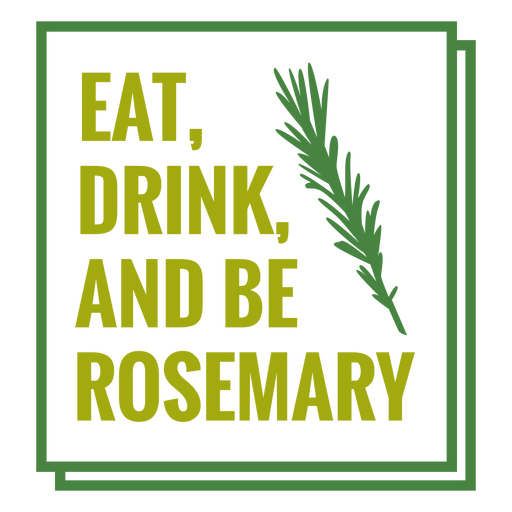 Be rosemary lettering