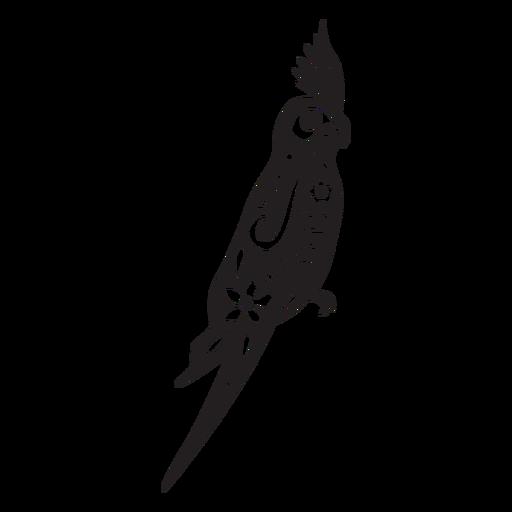 Cráneo de pájaro cortado
