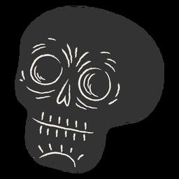 Cráneo negro cortado