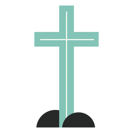 Blue cross element flat