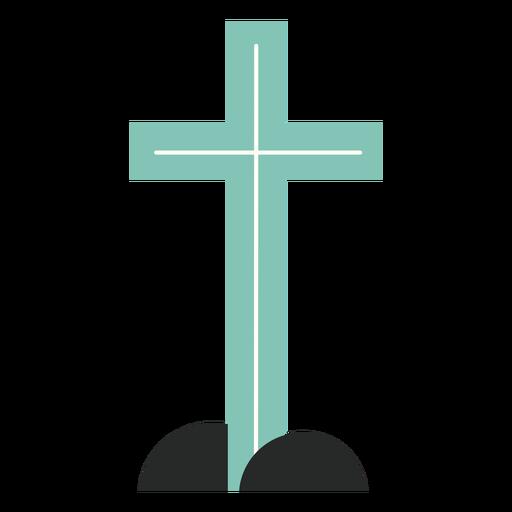 Elemento de cruz azul plano
