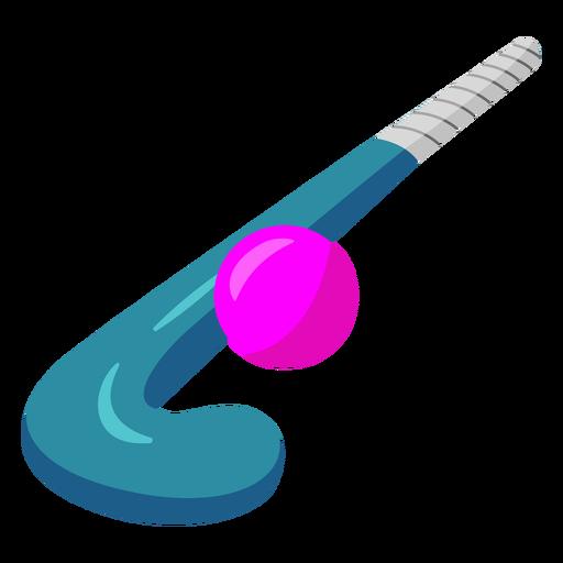 Blue hockey stick flat