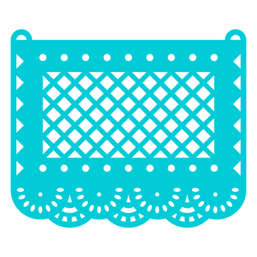 Blue patterned papel picado
