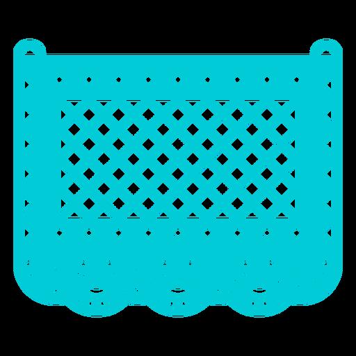 Papel picado estampado azul