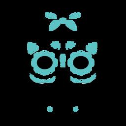 Blue skull cross color stroke