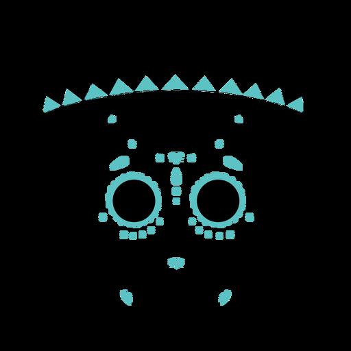 Sombrero-Farbstrich des blauen Schädels