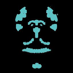 Blue skull spiderweb color stroke
