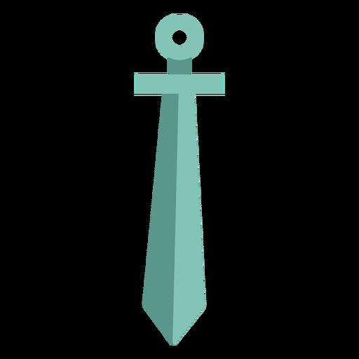 Blue sword element flat