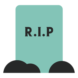 Blue tombstone element flat