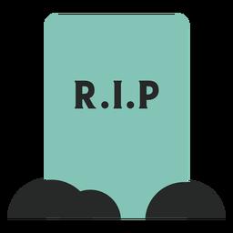Elemento de lápida azul plano