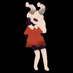 Criatura de cráneo de toro con textura
