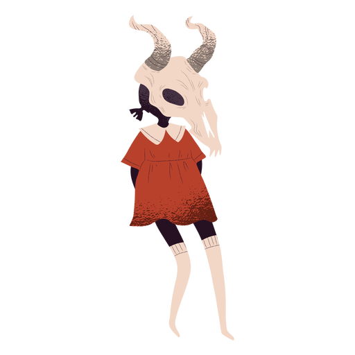 Criatura de cráneo de toro con textura Transparent PNG